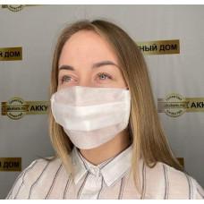 маска для лица одноразовая, двухслойная