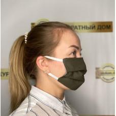 маска двухслойная из хлопка на резинке